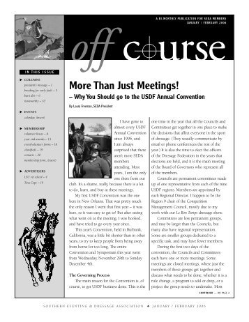 January/February - Southern Eventing and Dressage Association