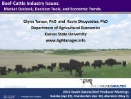 Beef Industry Issues (BIVI South Dakota Apr-May 2014)