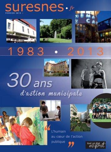 1983 - 2013 : 30 ans d'action municipale - Suresnes