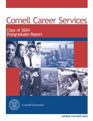 Class of 2004 Postgraduate Report - Cornell Career Services ...