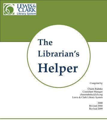Librarian's Helper - Lewis & Clark Library System