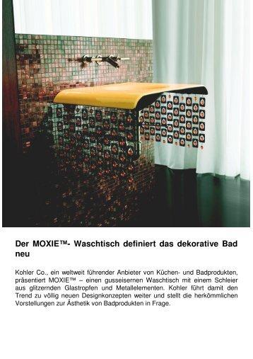Der MOXIE™- Waschtisch definiert das dekorative Bad neu - Kohler