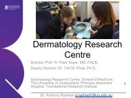 Dermatology Research Centre - School of Medicine - University of ...