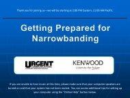 Narrowbanding Slides - sdpscc