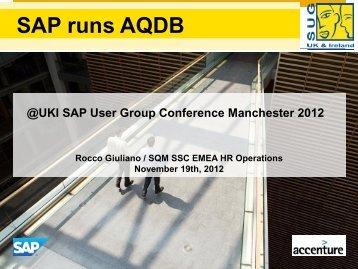 Presentation Slides - UK and Ireland SAP User Group