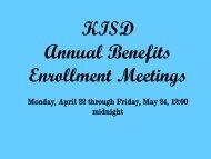 KISD Annual Benefits Enrollment Meetings - Klein Independent ...