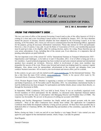 FROM THE PRESIDENT'S DESK - Association of Consulting ...