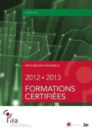 formations certifiées niveau A (PDF, 844.29 Kb) - Fedweb