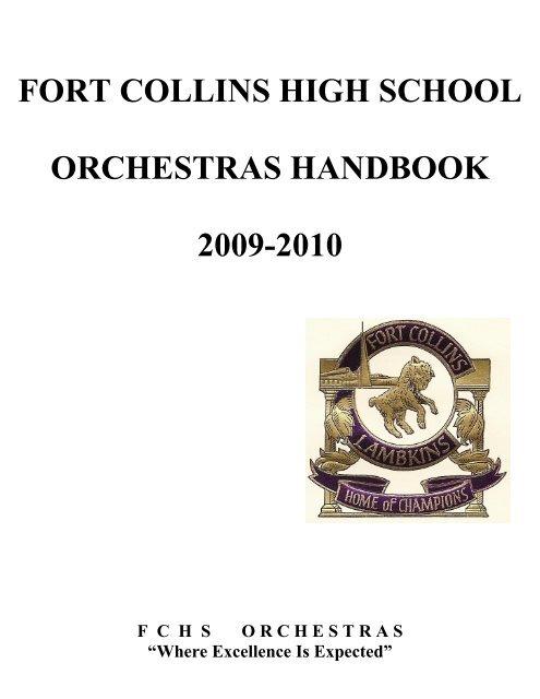 fort collins high school orchestras handbook 2009-2010