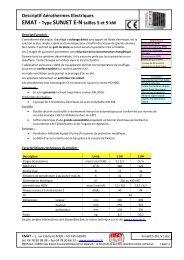Descriptif Aérothermes Electriques EMAT - Type SUNJET E-Ntailles ...