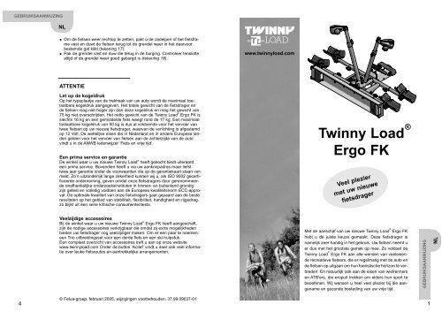 Twinny Load Ergo FK - Alles voor de fiets