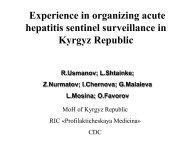 Experience in organizing acute hepatitis sentinel surveillance in ...