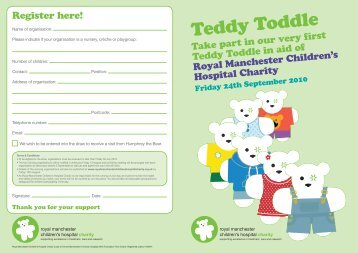 Teddy Toddle - Royal Manchester Childrens Hospital Charity