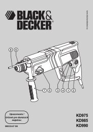 KD975 KD985 KD990 - Service - Black & Decker