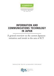 Information and Communications Technology in Japan - Vinnova