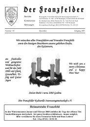 Heimatstube Franzfeld - Die Franzfelder
