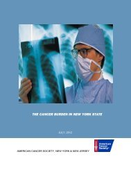 The Cancer Burden in New York State - American Cancer Society ...