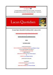 ICI - Lacan Quotidien