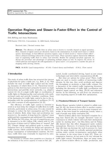 Operation Regimes and Slower-is-Faster-Effect in the Control of ...
