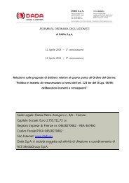 Relazione sul quarto punto all'ordine del giorno dell ... - DADA
