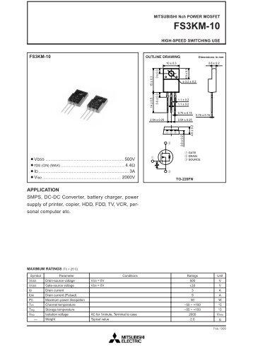 FS3KM-10 - Datasheet Catalog