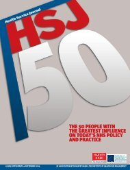 HSJ50 2006 supplement - Health Service Journal