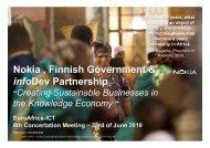 Nokia, Finnish Government & infoDev Partnership - EuroAfrica-ICT