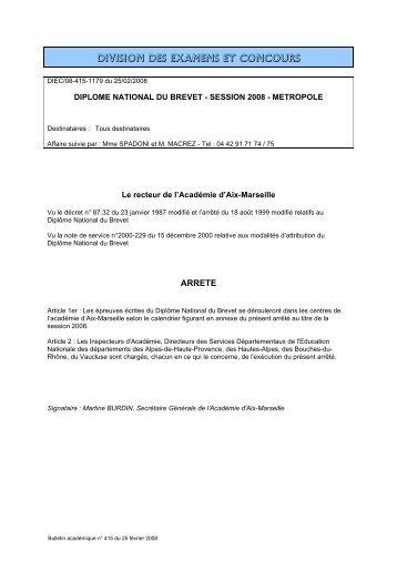 diplome national du brevet - session 2008 - Allemand - Académie d ...