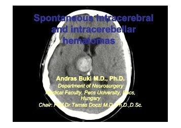 Spontaneous intracerebral and intracerebella and intracerebellar ...