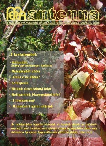 2006 4. szám - Magyar Evangéliumi Rádió