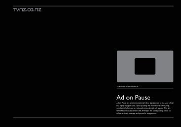 TVNZ Ad on Pause Specs