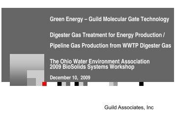 Guild Molecular Gate Technology - Ohio Water Environment ...