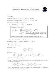 Matemática Discreta 2011.2 - Polinômios Somas ... - PUC-Rio