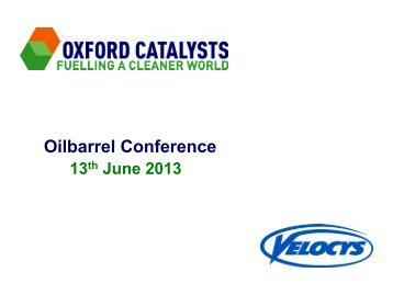 IMRET 12 Velocys - Oxford Catalysts Group