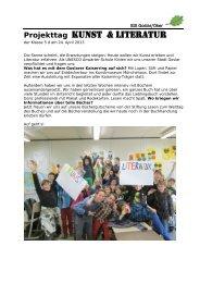 Projekttag Kunst & Literatur - IGS in Goslar/Oker