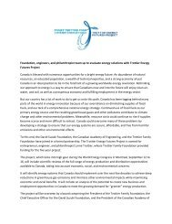 TEFP — Launch Backgrounder - David Suzuki Foundation