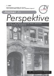Journal - Jänner 2007 - Zentralverein der Wiener Lehrerschaft