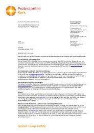 Nieuwsbrief kerkenraden, oktober 2013 - Protestantse Kerk in ...