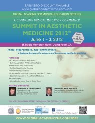 summit in aesthetic medicine 2012 - Global Academy for Medical ...