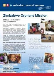Zimbabwe Orphans Mission - April 2012 - Mission Travel