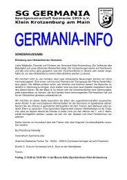 SONDERAUSGABE - SG Germania Klein-Krotzenburg 1915 eV