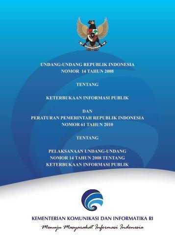 undang-undang republik indonesia nomor 14 tahun 2008 tentang ...
