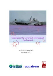 Triazoles in the terrestrial environment - Statsbygg