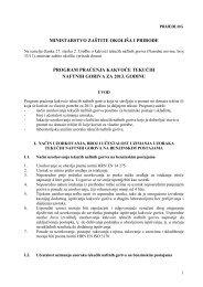 Prijedlog Programa - Ministarstvo zaštite okoliša i prirode RH