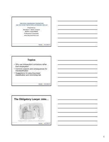 Topics The Obligatory Lawyer Joke…