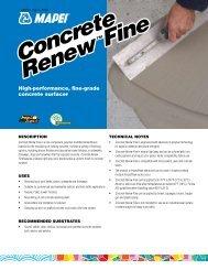 Mapei Concrete Renew Fine Data Sheet - Brock White