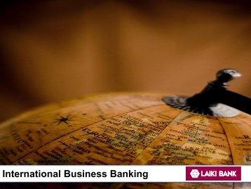 International Business Banking - Intax Info