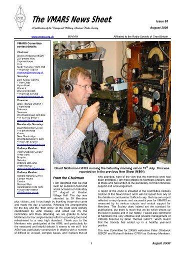 The VMARS News Sheet - VMARSmanuals