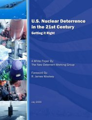 US Nuclear Deterrence in the 21st Century - Center for Security Policy