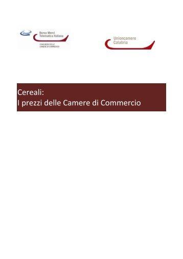 Cereali - CCIAA di Catanzaro - Camera di Commercio